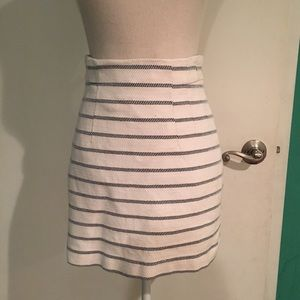 H&M thick cotton stripped skirt size 4